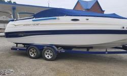 Ebbtide 2400 Mystique Fun Cruiser Dual Console Includes: Tandem Trailer Sink CB Radio Cover Bimini Top Sony Stereo 5.7L Mercruiser Tax and documentation not included in sale price. Dealer not responsible for errors Nominal Length: 23.7' Length