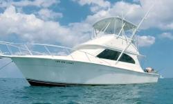 """Power Boat Guide describes the 37 Egg Harbor as a """"handsome convertible with signature Egg Harbor styling"""" that impresses anglers, cruisers alike with luxury interior and top shelf workmanship. Luxurious two-stateroom layout is an impressive"""