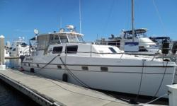 One Owner Vessel This is the Nicest 44 Endeavour Trawler Cat on the Market Twin 240hp Yanmar Diesels with only 1,410 hours, Northern Lights 6kW Generator with Only 100 hours, 2500watt Inverter, (4) 120w Solar Panels, Raymarine GPS/Fish Finder/Radar/Auto