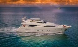 Paradise is a stunning example of the Ferretti Group's highly successful Custom Line 94 model.  She has the highly desirable master on main layout, with large VIP stateroom (2nd master) and 2 twin staterooms below. All the staterooms have
