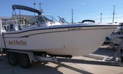 Located in Melbourne we have a 2004 Grady-White 205 DC Tournament powered by a Yamaha 150 hp 4 stroke with just over 300 hours. Options-Live well, porta potty with pump, fresh water washdown, ski pole, swim platform with ladder and so much more. This