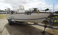 Here we have a 2004 Key Largo 160 center console boat. This boat is powered by a 50hp Mercury outboard with a stainless steel prop. If you are looking for a good little fishing boat or just something to run around the water with this Key Largo would be