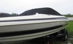 Price includes a Volvo 4.3 L V- 6 190hp, EZloader custom trailer, bimini top, bow and cockpit cover, stereo, ladder and snap in carpet. Sale Price $13,499.00 Price reduced to $11,999.00 Nominal Length: 19'