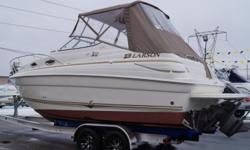 REDUCED PRICE 2004 Larson 240 Cabrio VERY CLEAN! -FULL COVER -FULL CAMPER ENCLOSURE -TANDEM AXLE TRAILER -EXTENDED SWIM PLATFORM -TRIM TABS -REMOTE SPOTLIGHT -STAINLESS STEEL PULL UP CLEATS -REAR WASH DOWN SYSTEM -NEW SNAP IN CARPET -COCKPIT COOLER -COCK