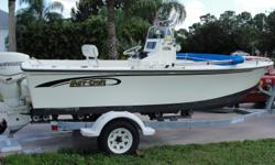 2004 May-Craft 1820 c/c with 2006 E-TEC 90 and 2003 TRAILER. Raymarine GPS, Live well, VHF Radio, Bimini Top, Cover for seat and C/C and more. GREAT BAY AND FISHING BOAT!!!!! Call Today !!!! Beam: 7 ft. 9 in. Boat cover; Vhf radio; Bimini top; Gps loran;