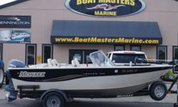 JUST REDUCED! 2004 Monark Tracer 160 DC Just Reduced $1,000 on 9/16/16! FREE ON WATER TRAINING WITH ANY BOAT PURCHASE!! -FULL MOORING COVER -SPARE TIRE -BIMINI TOP -LOAD GUIDES ON TRAILER -67 LBS TROLLING MOTOR -HUMMINGBIRD FISH FINDER -2 LIVE WELLS -BAIT