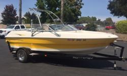 Just in! Super clean. Wakeboard Tower, Dual batteries, Stereo w/ amp, Volvo Penta V6 4.3L, custom boat cover. Call today (805) 466-9058 or email shawn@vsmarine.com Engine(s): Fuel Type: Gas Engine Type: Stern Drive - I/O Quantity: 1 Draft: 2 ft. 3 in.