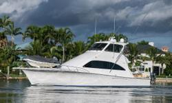 The Ocean 57 Enclosed bridge is closely the largest interior volume of any other sport fish in her class. Features to note include a full beam master stateroom with ensuite head and shower, a VIP/Second master stateroom forward with another ensuite head