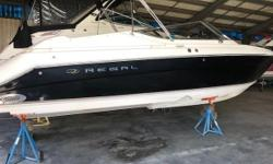 This 2004 Regal 2900 LSR is in immaculate condition. With only 462 hours its ready for its new owner. At 29 FT, this is more then enough boat to enjoy the lake with family and friends. The boat has a Mercury 8.1 MAG HO B3 engine with 425 HP and Thru Hull