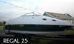 Actual Location: Tacoma, WA - Stock #100266 - Excellent condition! Loaded! Turn key & ready ~ Newer Lowrance Elite-7HDI fish finder and chart plotter ~Trailer included ~ LOW HOURS!!You are looking at a gorgeous 2004 REGAL 2465 Commodore that comes