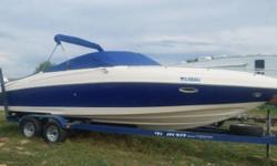 2004 Rinker Fiesta Vee 290 EC Cudi Cabin Boat Great condition Twin prop mercruiser kur drive backed by a 496 motor Boat has a bimini top with a full zip in enclosure Also has a winter boat cover All fluids changed Wet sanded and buffed out Ready for the