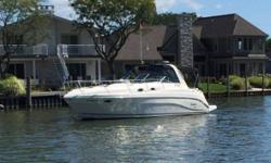 2004 Rinker Boat Co. Fiesta Vee 342 EC Survey done April 2017 valued at $78000 One Owner Garmin Chart Plotter New canvas 2016 Bow wash down and toe-taps for Windlass anchor Central vacuum Full head with separate shower Newer cockpit carpet Air heat
