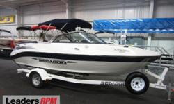 2004 Sea-Doo 205 Utopia NICE 2004 SEA-DOO 205 UTOPIA WITH ONLY 174 ENGINE HOURS!  A 250 hp Mercury Optimax 3.0L V6 M2 jet engine powers this fiberglass bowrider jet boat!  Features include:  storage cover, color coordinated bimini top