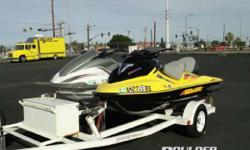 Pair of PWC's with trailer Completing the 2004 musclecraft lineup is the GTX 4-TEC Supercharged, the industry's highest horsepower three-seater and the perfect combination of muscle and size for you and your family. Lake ready Sea-Doo with low hours. Only