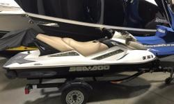Have some fun in the sun on this 10-foot jet ski this summer! This is an SSM Trade and has recently been serviced. Seating for up to 3 and ample storage will ensure a great day at the beach! Trailer Not Included in Sale Price Nominal Length: 10'