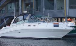 Here is your chance to own an attractive, low hour (<700), loaded up Sea Ray 340 Sundancer...she is our trade-in, thoroughly checked out, and ready for cruising! In the last two seasons of operation, her props were professionally tuned, serpentine belts