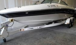 2004 Sea Ray 200 Sport Mercruiser engine 5.0 260 h.p 133 hours Stainless steel propeller Depth finder & radio Open bow with storage under all seats Floor and side panels Tandem Sea Ray trailer with brakes and swing away tongue New tires and wheels All