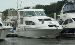 NEW LISTING / OWNER SAY'S SELL NOW! / ONE OWNER SINCE NEW / LOW HOURS 260 on CUMMINS 480 CE's / Complete Raymarine Package RL80CRC w/Open Array, Autopilot ST 7001, RayNav 300 GPS, RAY VHF, Cherry Interior, Wood Galley Flooring, Washer/Dryer Combo, ACR