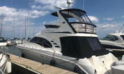 Exclusively used in fresh water, this very well maintained Sea Ray 420 Sedan Bridge has everything you could want in floating Real Estate! Respected by two very meticulous owners, this boat as always been stored in a heated environment during the off