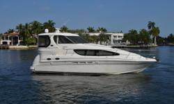 This 2005 Sea Ray 390 Motor Yacht is one of the best in her class with a very spacious interior. The aft deck on this 390 has plently of room to entertain a crowd. Her full beam aft master equip with a center line queen berth is one of the true highlights