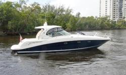 The only 420 Sundancer delivered with two cockpit AC units and four outside AC vents to pamper the captain and guests with air-conditioned comfort on even the hottest days of the year. This is by far the highest spec and the cleanest 42 Sea Ray