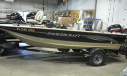 Worn to Perfection! 2004 Smoker Craft 161 Pro Mag aluminum fishing boat with a Mercury 60ELPT EFI 4stroke engine! Shoreland'r SLR20S roller trailer complete with spare tire, transom saver and tie downs. Oh, the fish stories this boat could tell! Needs a