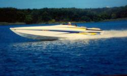 RECENTLY REDUCED 2004 38' Sonic powered by FRESH REBUILT in 2012 Twin, mercruiser 525'(1050 hp) engines with only 40 hours and BRAND NEW headers. AC/heat, hot water heater, 2008 5kw westerbeake generator (low hrs), microwave, new flat screen tv/dvd,