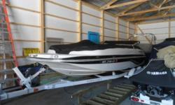 SUPER CLEAN.JUST TRADED IN.WE SOLD AND SERVICED SINCE NEW.ALWAYS ON A LIFT NEVER SAT IN THE WATER AND STORED INSIDE.IF YOUR LOOKING FOR A DECK BOAT THIS IS IT.POWERED BY A 4.3 LITRE V-6 ENGINE IT'LL DO WHAT EVER YOU NEED.HURRY IT WON'T LAST LONG Draft: 1