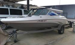 2004 Tahoe by Tracker Q5. Great all around runabout boat. Extremely low hours, one owner, and dry docked in covered storage since purchase. Perfect Summer time boat! **This boat is lake ready today!** Includes: *Trailer *Bimini Top *Boat Cover *Neoprene