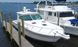 The Tiara 4200 open needs little introduction, having been a benchmark for quality and ride for some time. The example has been beautifully maintained by it's only two owners and it shows in, out and below decks. She's fitted with the preferred 'Plan A'