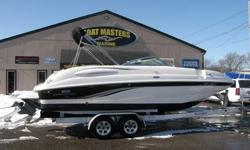 2005 Chaparral 254 Sunesta Deckboat You demand the very best and so do we. It's hard to imagine a deckboat so functional, enticing and easy to own as the 254 Sunesta. Your family will chase sunsets in a boat that unleashes big block cubic inches to excite