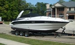 2005 Crownline 270 CR The 270 CR continues its gotta-have appeal. Even with all its extras, it's one of the industry's most affordable cruisers. The helm is designed for maximum operating efficiency and the lounge area for maximum comfort and convenience.