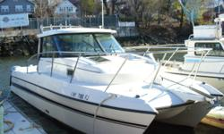 FOR QUESTIONS CONTACT: TIM 914-497-6854 or timothy.f.nast@gmail.com This is a 2005 Glacier Bay 2680 Coastal Runner Catamaran powered by twin Honda BF150 Four Strokes with only 450 hours! Boat is in excellent condition! SPECIFICATIONS: -LOA: 26ft-1in