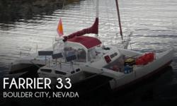 Actual Location: Boulder City, NV - Stock #095442 - If you are in the market for a trimaran, look no further than this 2005 Farrier 33, priced right at $50,000 (offers encouraged).This vessel is located in Boulder City, Nevada and is in good condition.