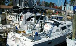 """This 2005 Hunter 33, """"Molly Brown"""", is a two-owner cruiser that has spent its entire life on the Bay. The In-mast furling and helm sheeting options provide ease of single handling. Additional options include AC/Heat, autopilot, and GPS."""