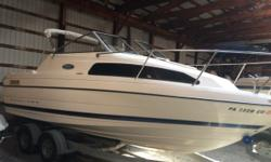 THIS IS A REAL GREAT PIECE FOR SOMEONE LOOKING FOR A LOT OF BOAT WITHOUT PAYING FOR SOMETHING BRAND NEW. ONE IMPERFECTION ON A REMOVABLE CUSHION ON THE AFT BUT VERY WELL MAINTAINED. INCLUDES BIMINI TOP AND COCKPIT COVER. Engine(s): Fuel Type: Other Engine