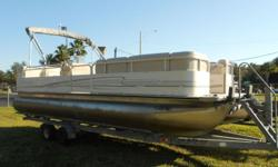 2005 BENTLEY PONTOON 240 CRUISER, MERCURY 60HP 4-STROKE, TANDEM AXLE GALVANIZED TRAILER. THIS RIG INCLUDES ALUMINUM PROP, BIMINI TOP, CHANGING ROOM, REMOVABLE LADDER, & BOSS MARINE AUDIO SYSTEM BLUETOOTH/USB/AUX WITH 4 SPEAKERS.