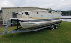 Blowout price! Priced below NADA book value! Great pontoon at an even better price! 2005 model Bentley 240 Fish. Boat has plenty of room for the entire family. The boat has new upholstery. Outfitted with a vinyl floor allowing for easy clean up after a