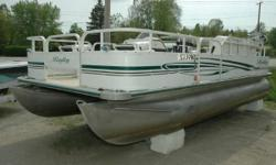 NEW Winter Price ONLY $9,695! If you love to fish with plenty of room to move around, this is the boat for you. One of the most popular fishing pontoons in the industry is the 4-corner fish. This boat is in good condition and ready to take you to your