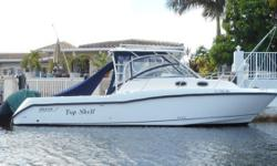 The Boston Whaler 305 Conquest boasts an impressive 58 square feet of cockpit space - perfect for fish fighting, entertaining, or both. The 305's new hull design combines quick planing capabilities with a smooth, dry ride. Engines have been well