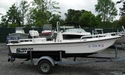 16 Ft. Skiff, 2005 50 HP Yamaha TLRD 2-Stroke with excellent compression, Garmin 541s GPS/ Fish-finder, Aerated live well. Swing back cooler seat, all accessories included, 2005 Road King Trailer, Garage kept excellent condition Beam: 5 ft. 7 in. Depth