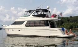 PRICE REDUCED FRESHWATER BEAUTY, LOW HOURS, UPGRADES Manufacturer Provided Description Everything about the Carver 57 Voyager is impressive. From the beautifully sculptured lines of its compelling exterior, to the extraordinarily spacious bridge, to a