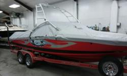 Get your surf on with this really nice 2005 Ski Centurion. Get on the water today with this great tow boat. Trades considered. CANVAS BIMINI TOP BOW COVER TRAILERING COVER DECK ANCHOR W/LINES BRASS WATER INTAKE FOR SALT WATER USE BUILT IN COOLER DECK SUN