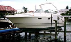 (LOCATION: Clearwater Beach FL) The Chaparral Signature 310 is a full-featured family cruiser with style, luxurious accommodations, and performance. She features a large open cockpit with ample seating and a spacious mid-cabin interior. Whether you are