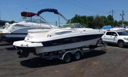 ****Just Arrived, 06/30/18, Call To Come See This Boat Owner Will Bring To Philadelphia Boat Supply**** 2005, Chaparral, Fiberglass, Bow Rider, (Boat / Motor / Trailer PKG), Blue And White, I/O, Volvo Penta, HP 260, Duro Prop Drive, Just Serviced. 2007,
