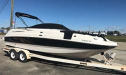 This Deck Boat has room for all of your friends with the power of a 350 Mag. Trades considered. Engine(s): Fuel Type: Gas Engine Type: Stern Drive - I/O Quantity: 1