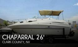 Actual Location: Boulder City, NV - Stock #092984 - GREAT FOR WATER SPORTS, CRUISING, OR COZY LIVE-ABOARDThe Chaparral 260 Signature is one of the most popular cruisers for its year. You'll get the feel for how efficiently she's laid out as you step