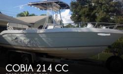 Actual Location: Fort Myers, FL - Stock #032821 - This vessel was SOLD on April 4.This 2005 Cobia 214 21' Center Console is in better than expected condition. The boat shows well with only the average or below average normal wear and tear marks present.