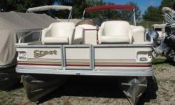 Mercury 50 hp 4 stroke Nice clean pontoon in good condition. Comes with am fm stereo, rear swim ladder, docking lights, bimini and a a mooring cover. Nominal Length: 25' Length Overall: 25' Engine(s): Fuel Type: Other Engine Type: Outboard