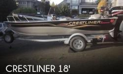 Actual Location: Kenmore, WA - Stock #079747 - If you are in the market for an aluminum fish boat, look no further than this 2005 Crestliner 18 Canadian Aluminum Welded, just reduced to $14,500.This boat is located in Kenmore, Washington and is in great